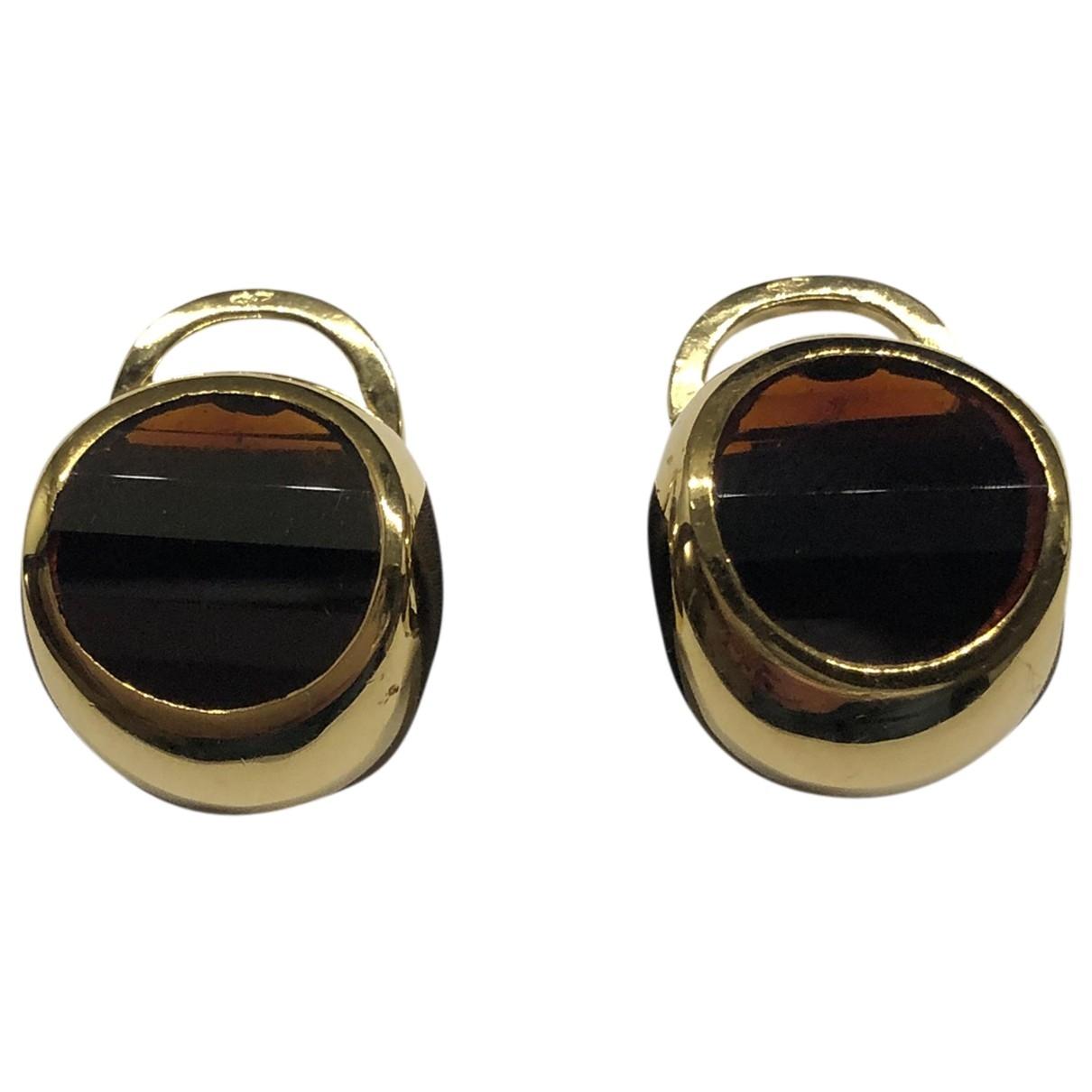 Pomellato \N Brown Yellow gold Earrings for Women \N