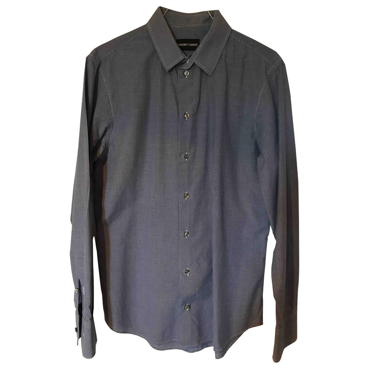 Emporio Armani \N Hemden in  Blau Baumwolle