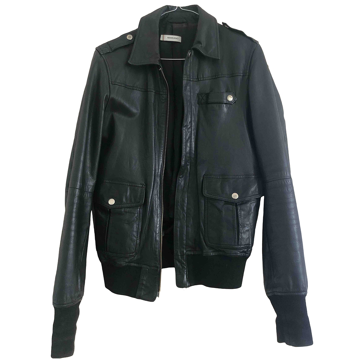 Mangano \N Jacke in  Schwarz Leder