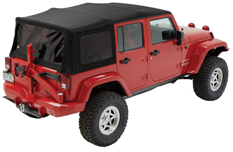Bestop 54823-17 Black Twill Supertop Soft Top Jeep Wrangler 4-Door 2007-2018