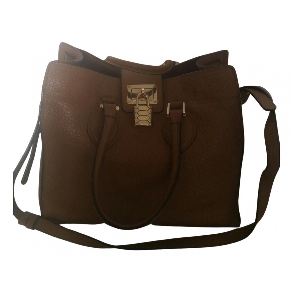 Roberto Cavalli \N Brown Leather handbag for Women \N