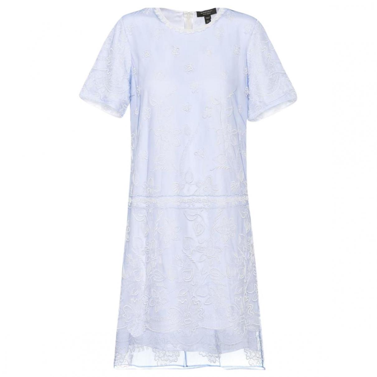 Burberry - Robe   pour femme - bleu