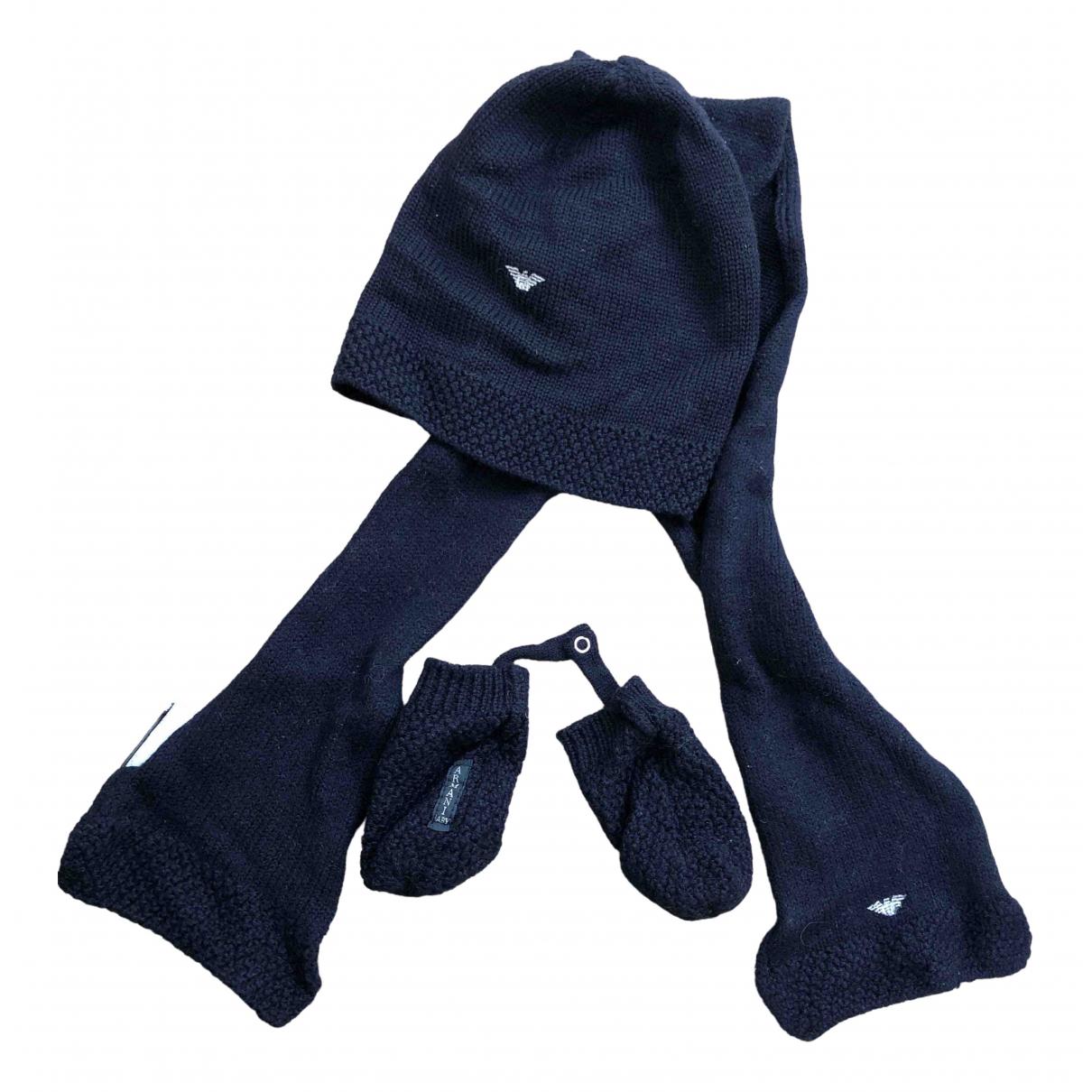 Armani Baby - Chapeaux.Bonnets.Gants   pour enfant en laine - marine