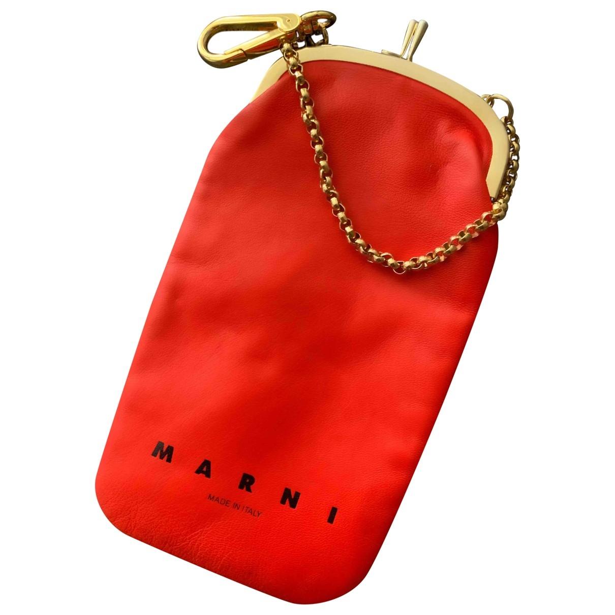 Marni \N Kleinlederwaren in  Rot Leder