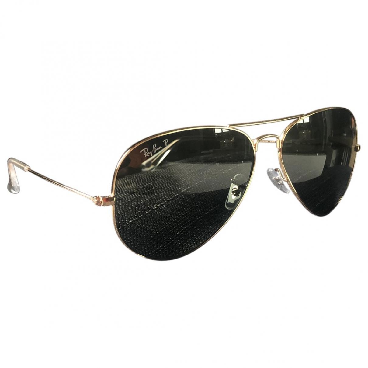 Ray-ban \N Sonnenbrillen in  Gold Metall