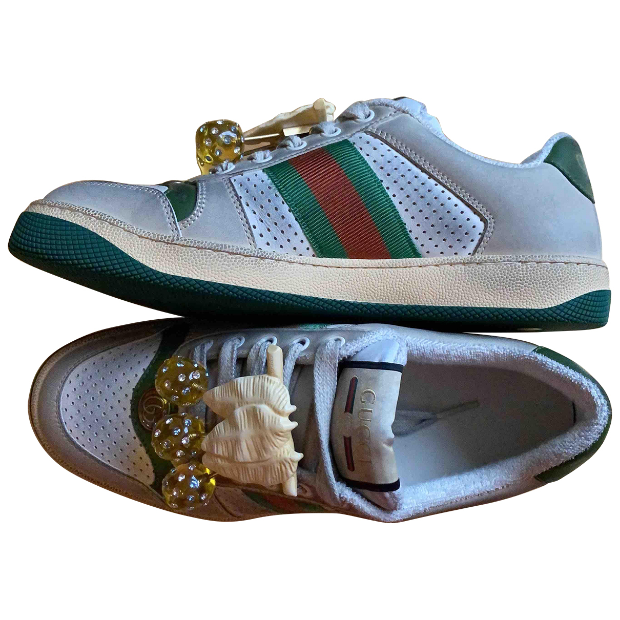 Gucci Screener Leather Trainers for Women 37 EU