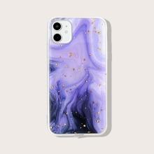 iPhone Schutzhuelle mit Goldfolie Dekor