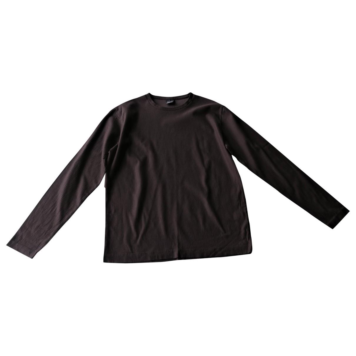 Boss \N Brown Cotton T-shirts for Men M International