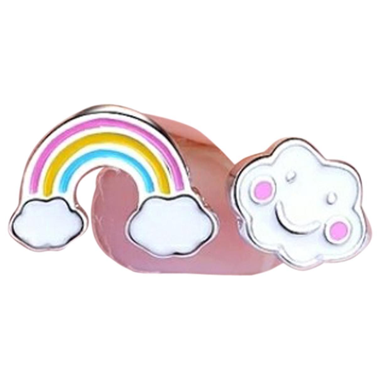 - Boucles doreilles Motifs Etoiles pour femme en argent - multicolore