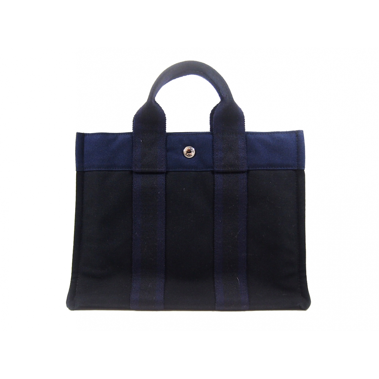 Hermès \N Navy Cloth handbag for Women \N