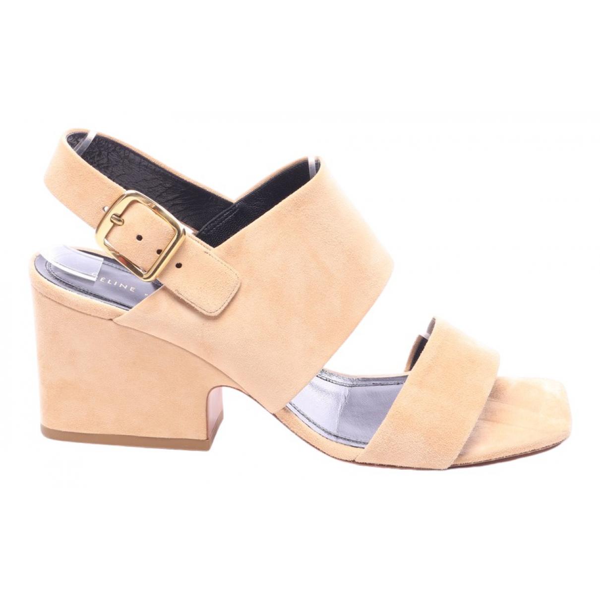 Celine \N Beige Leather Sandals for Women 39 EU