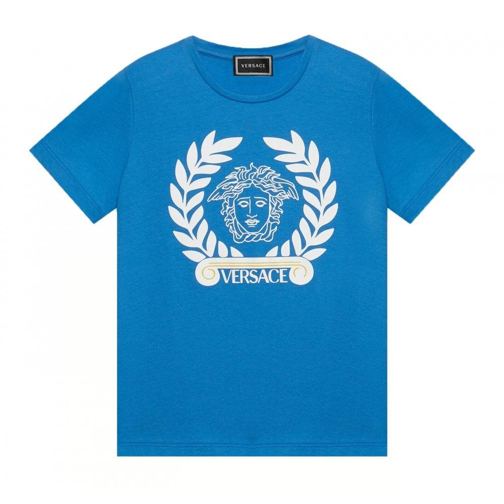 Versace Medusa Logo T-shirt Size: 5 YEARS, Colour: BLUE
