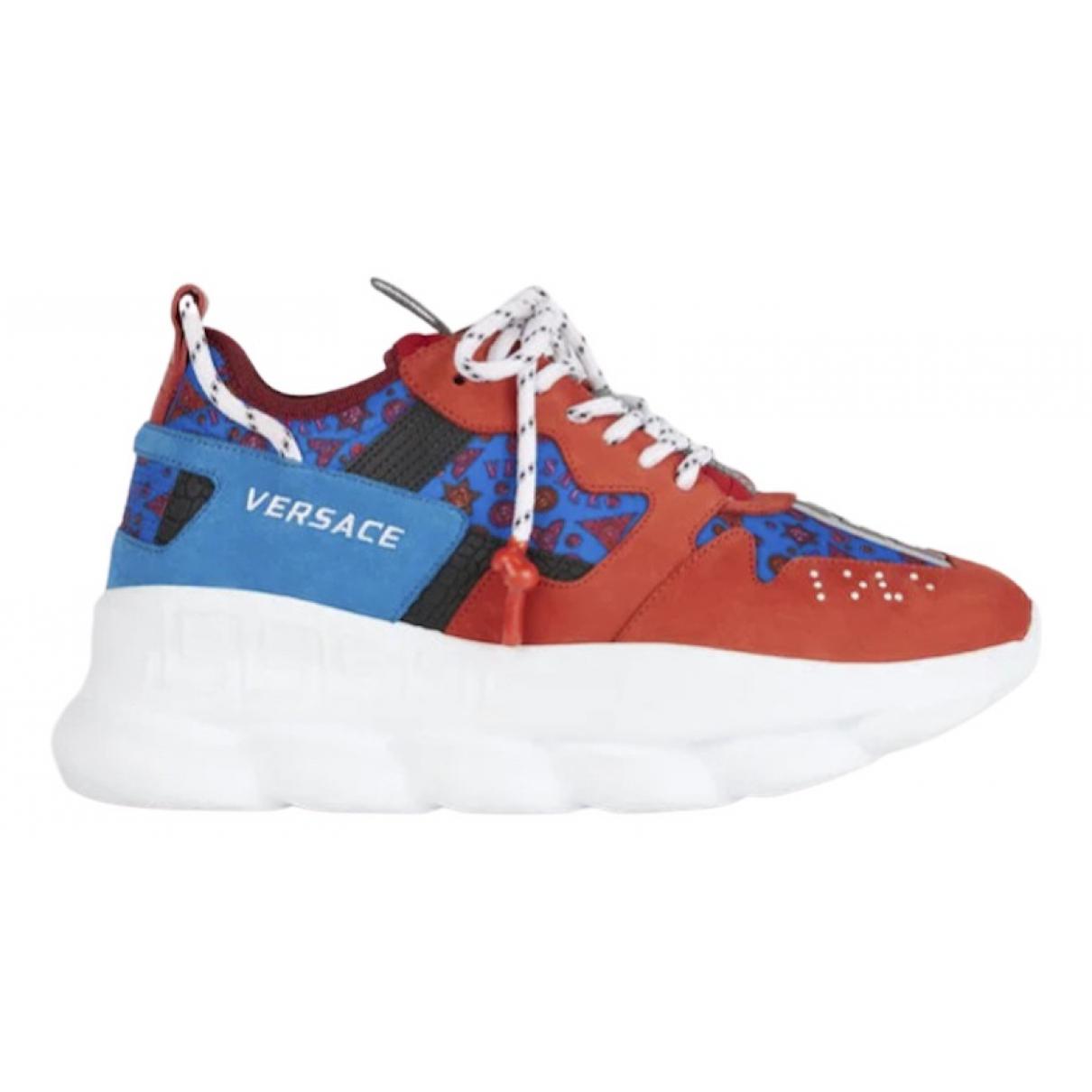 Versace Chain Reaction Sneakers in  Rot Kautschuk