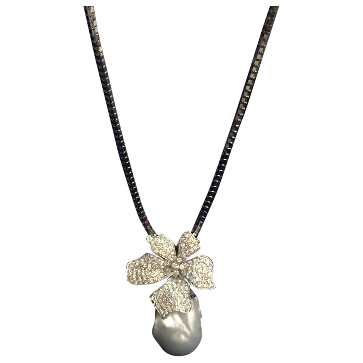 - Collier Nacre pour femme en or blanc - argente
