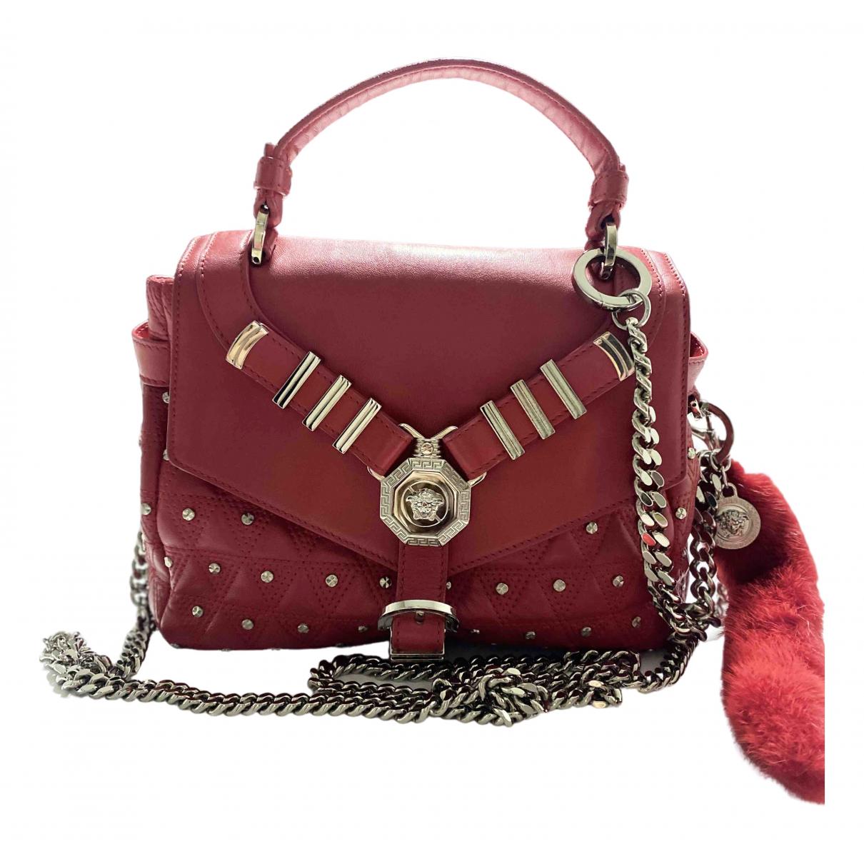 Versace - Sac a main   pour femme en cuir - rouge