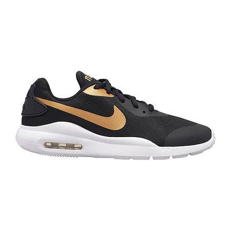 Nike Air Max Oketo Big Kids Girls Lace-up Running Shoes, 4 1/2 Medium, Black