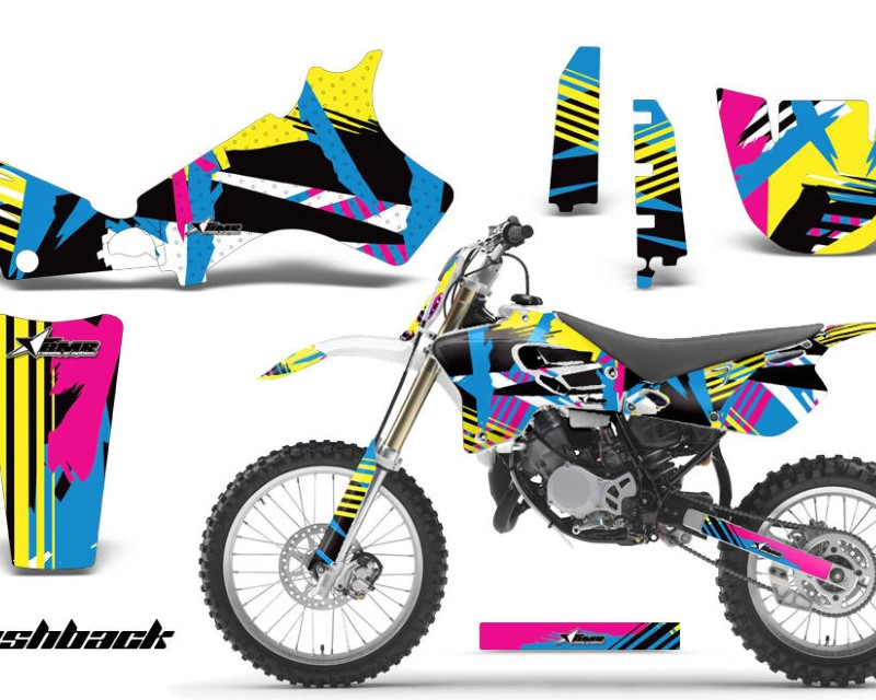 AMR Racing Dirt Bike Graphics Kit Decal Sticker Wrap For Yamaha YZ80 1993-2001áFLASHBACK