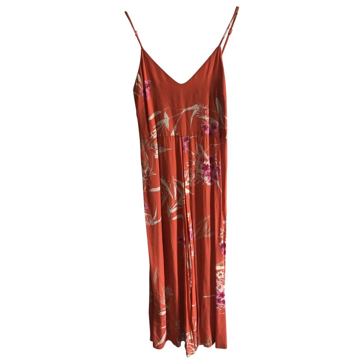 - Combinaison   pour femme en soie - orange