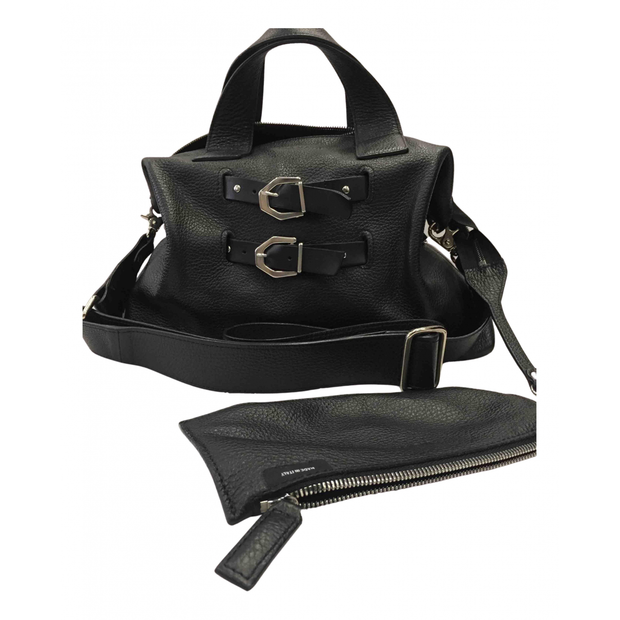 Vic Matié N Black Leather handbag for Women N
