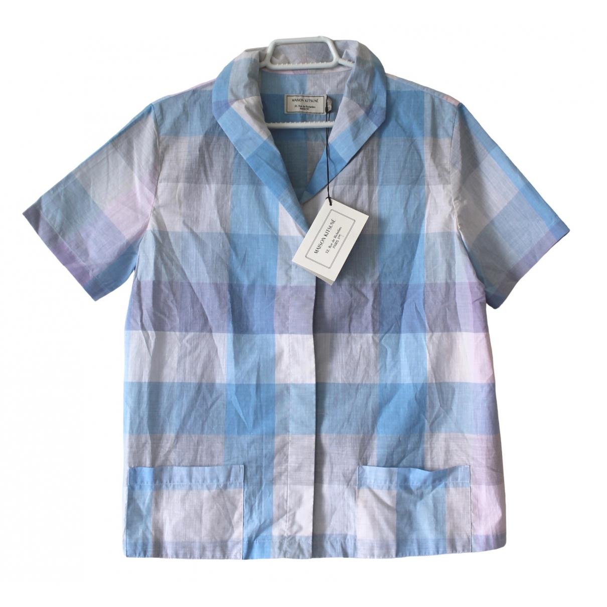 Maison Kitsune \N Blue Cotton  top for Women 36 IT