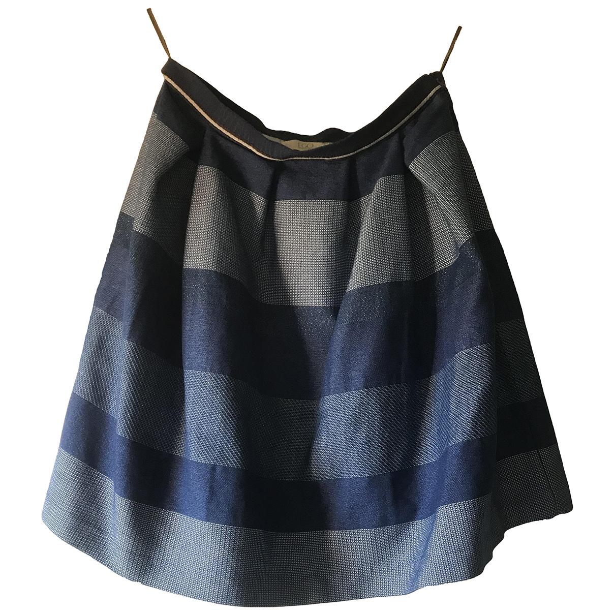 Autre Marque - Jupe   pour femme en coton - elasthane - bleu
