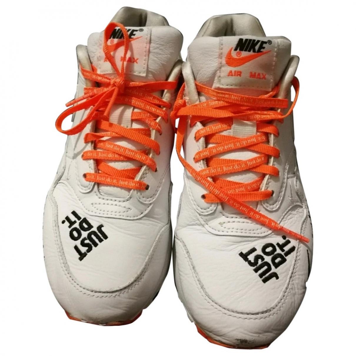 Nike - Baskets Air Max 1 pour femme en cuir - blanc