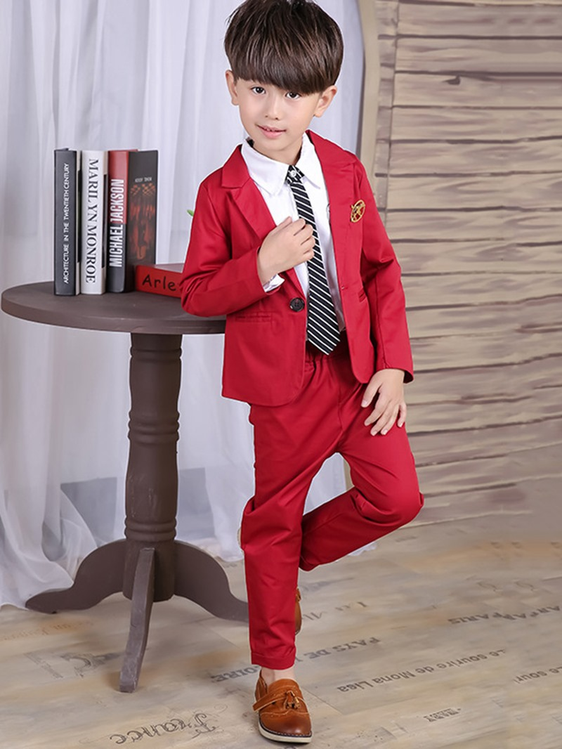 Ericdress Two-Piece Solid Color Boys Casual Suit