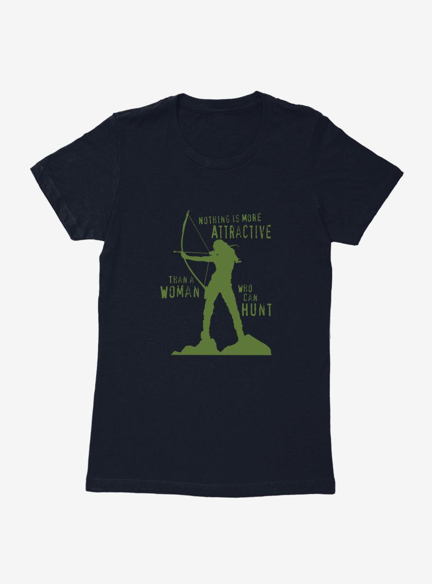 DC Comics Arrow Woman On A Hunt Womens T-Shirt