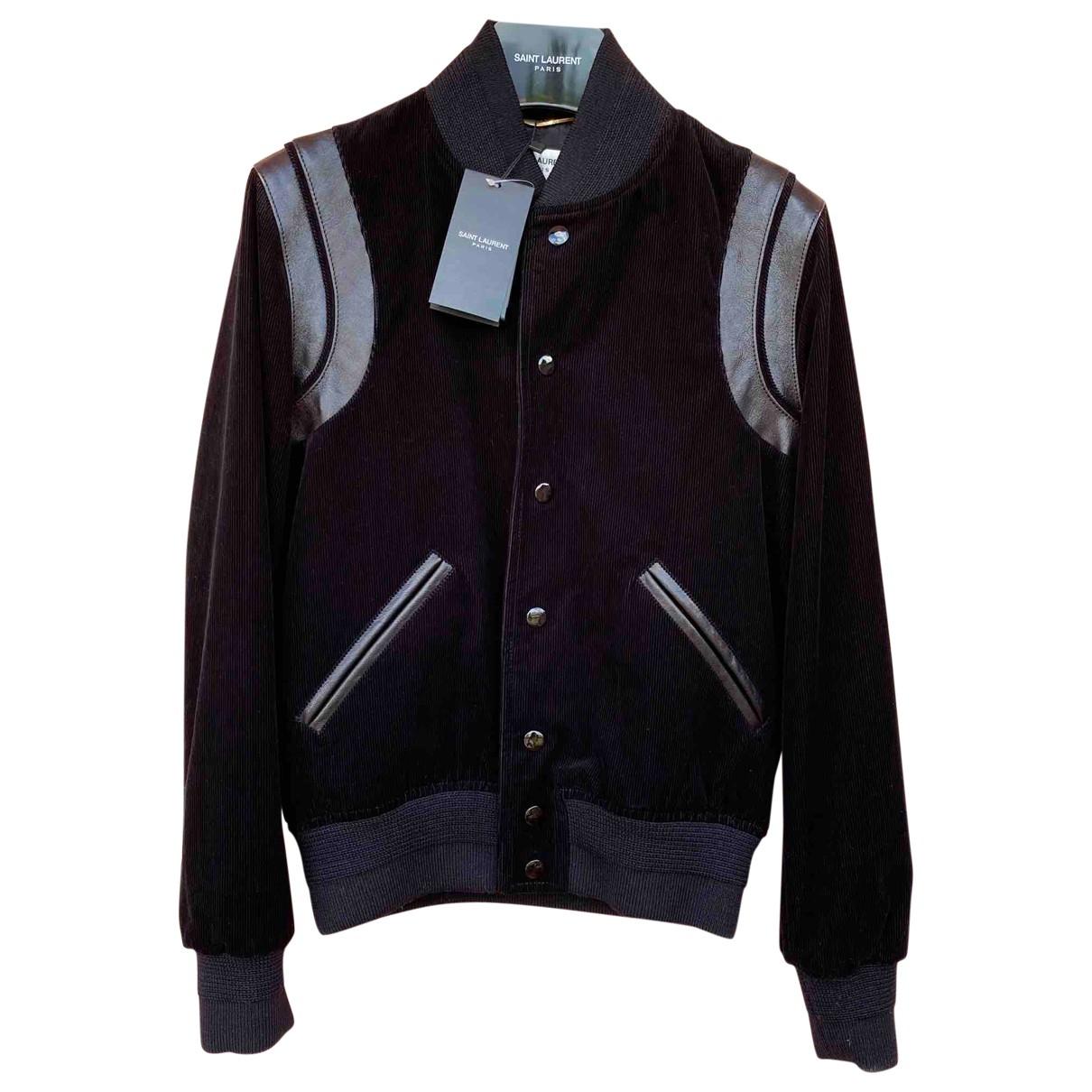 Saint Laurent \N Black Leather jacket for Women 38 IT