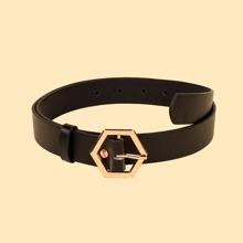 Metal Hexagon Buckle Belt