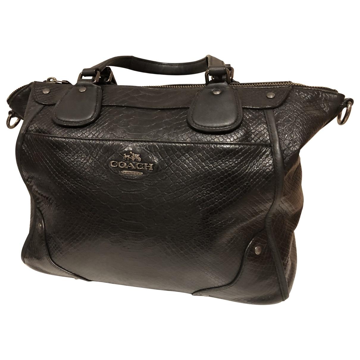 Coach \N Handtasche in  Schwarz Leder