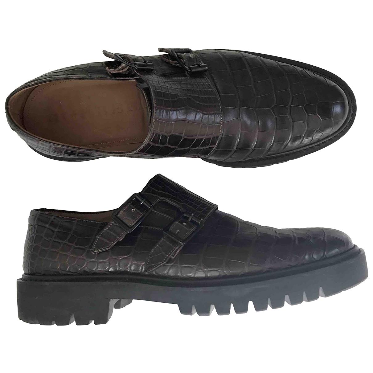Burberry \N Brown Crocodile Flats for Men 10 UK