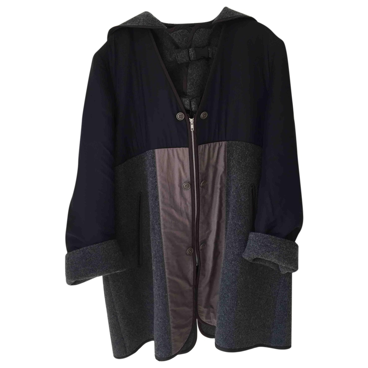 Comme Des Garcons \N Maentel in  Marine Wolle