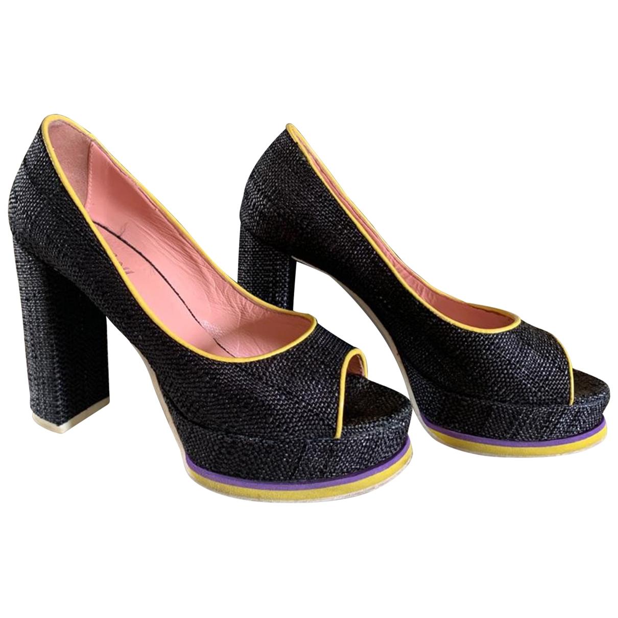 Pollini \N Grey Cloth Heels for Women 37 IT