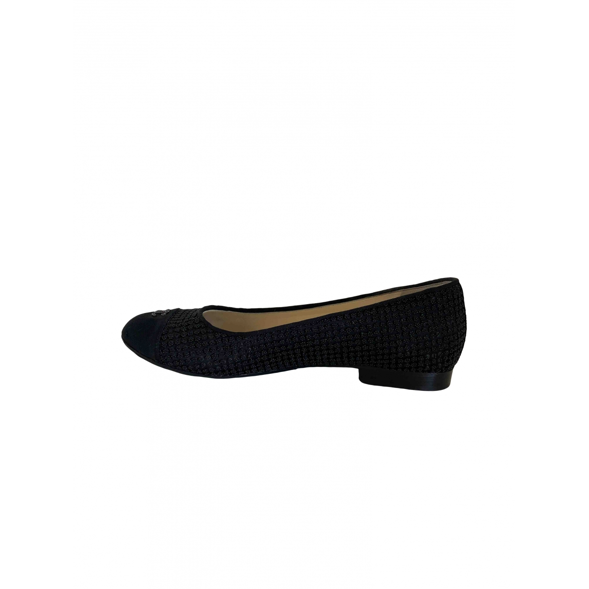 Chanel \N Black Cloth Ballet flats for Women 37.5 EU