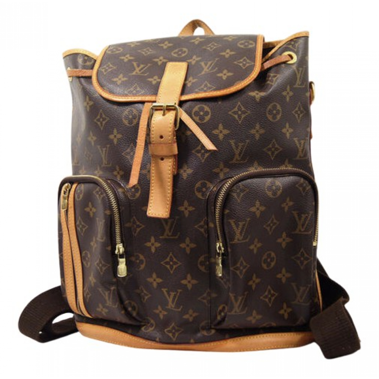 Louis Vuitton Bosphore Backpack Rucksaecke in  Braun Leinen