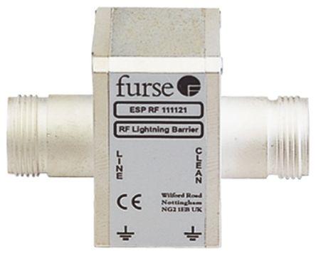 WJ Furse ESP RF Series 85 V Maximum Voltage Rating 2.5 kA, 20 kA Maximum Surge Current Coaxial Surge Protector, Screw