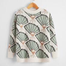 Pullover mit komplettem Faecher Muster