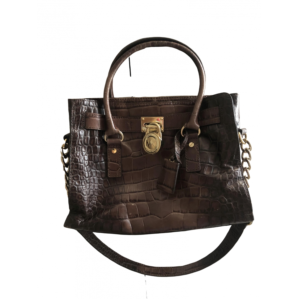 Michael Kors Hamilton Brown Leather handbag for Women \N