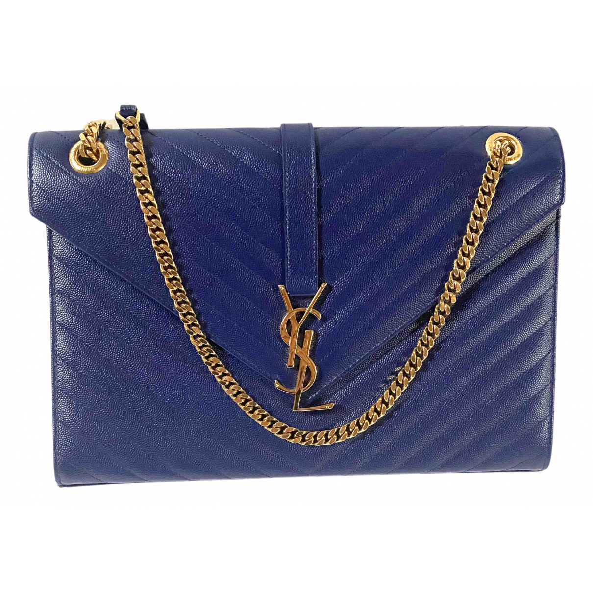 Saint Laurent Satchel monogramme Navy Leather handbag for Women N