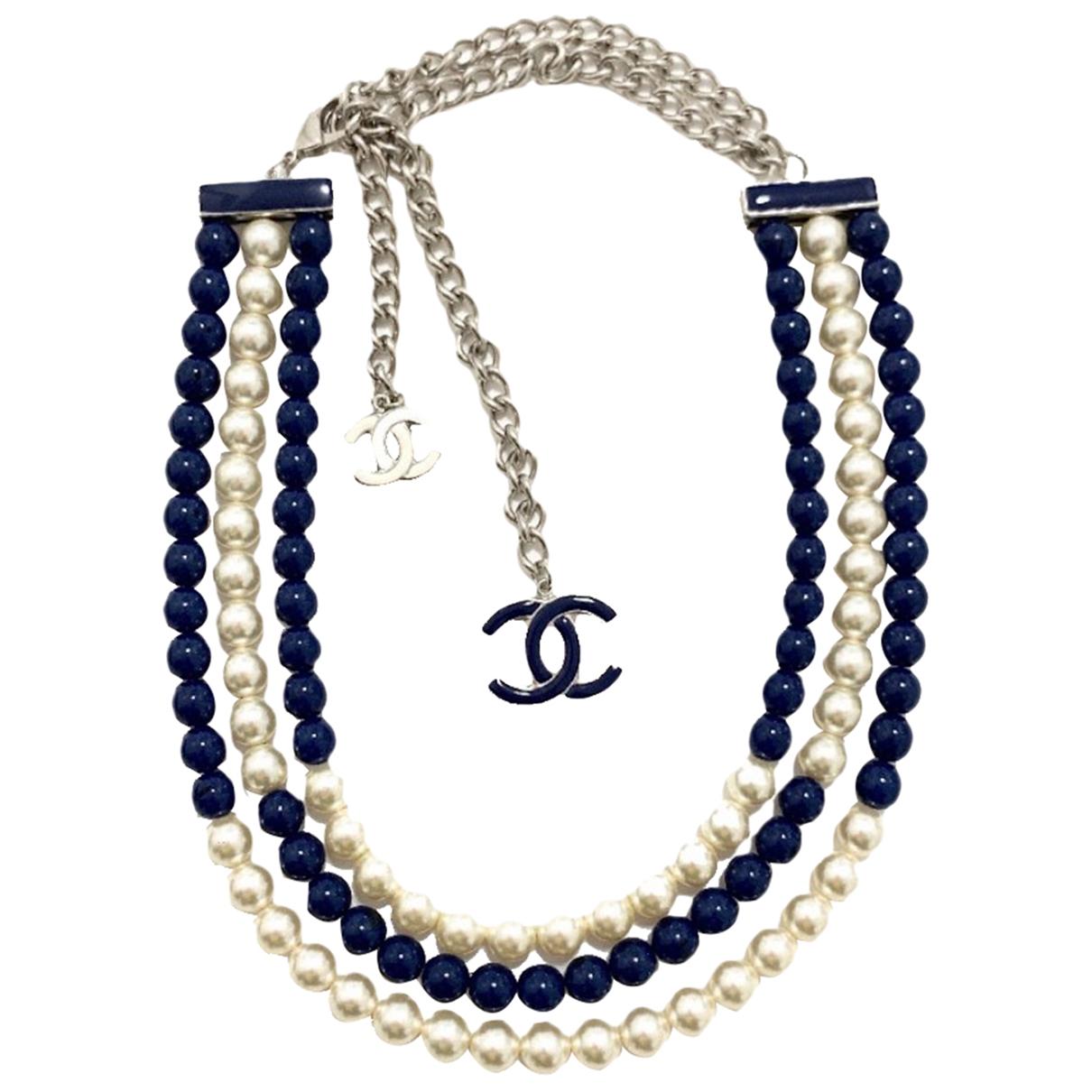 Chanel - Sautoir   pour femme en perles - bleu