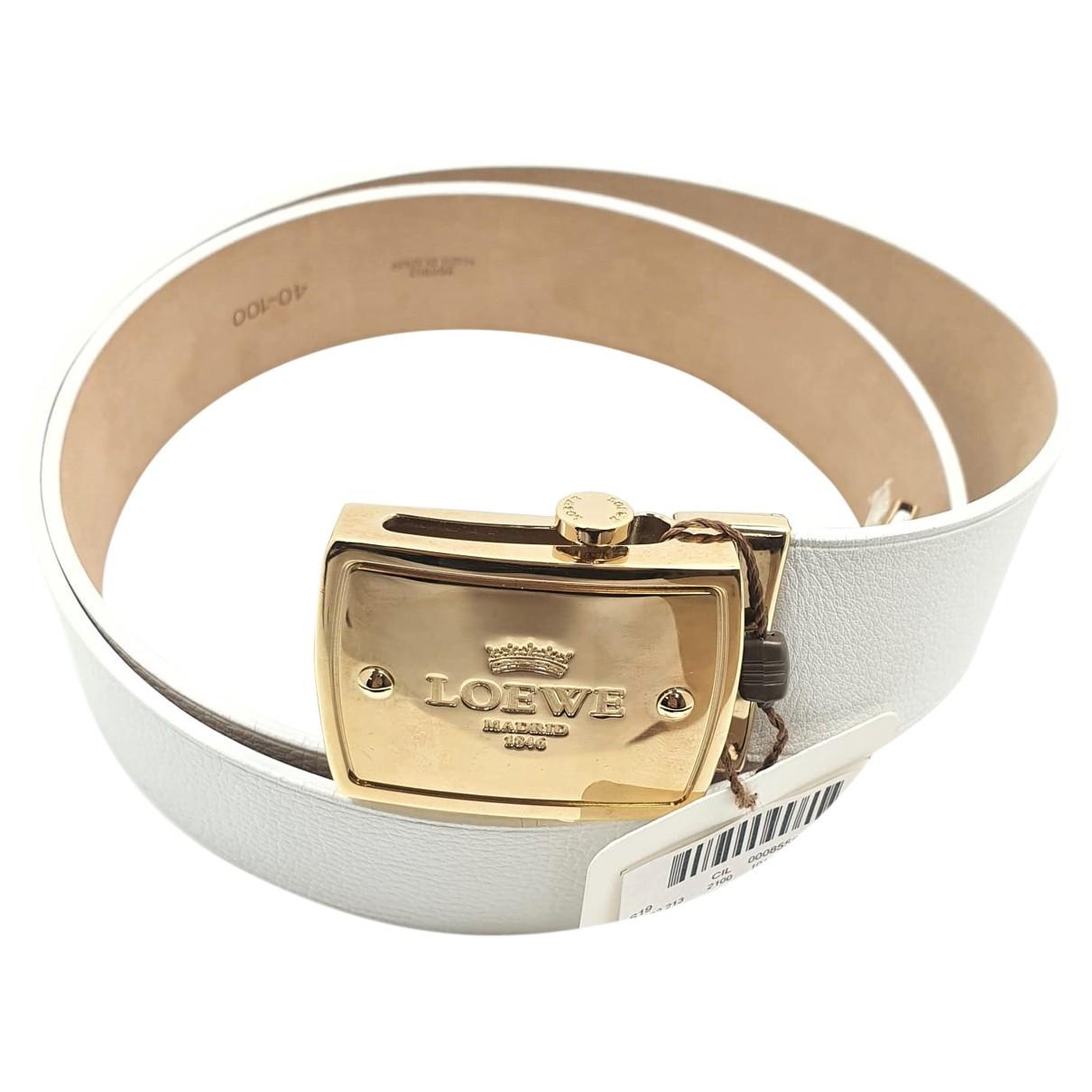 Loewe \N White Leather belt for Women L