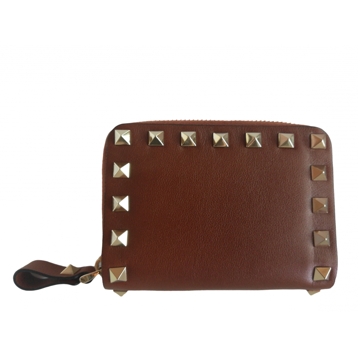 Valentino Garavani \N Brown Leather Purses, wallet & cases for Women \N