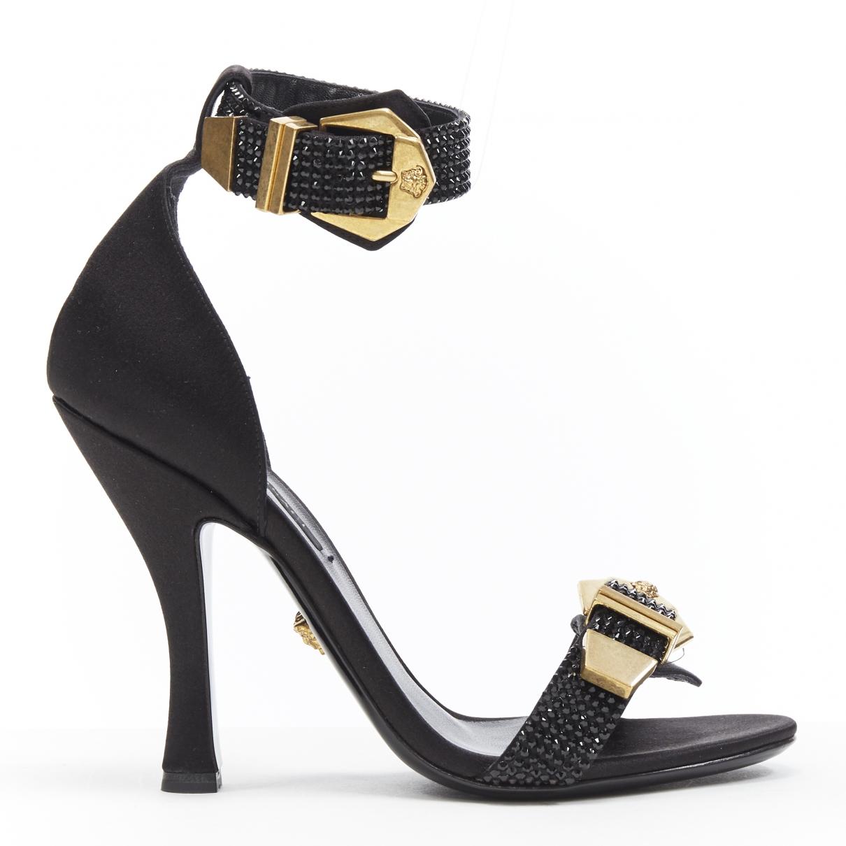 Versace - Sandales   pour femme en suede - noir