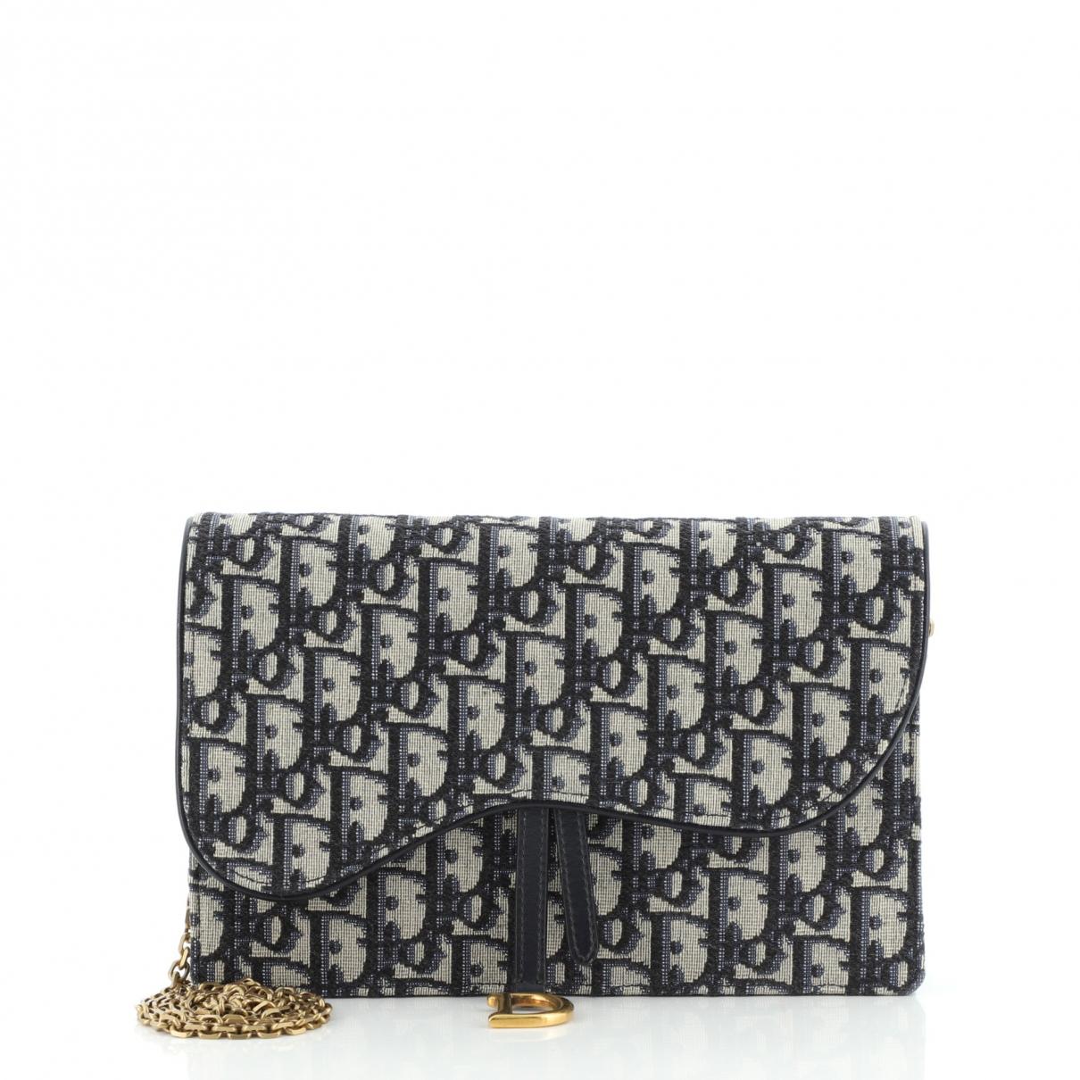 Christian Dior \N Blue Leather handbag for Women \N