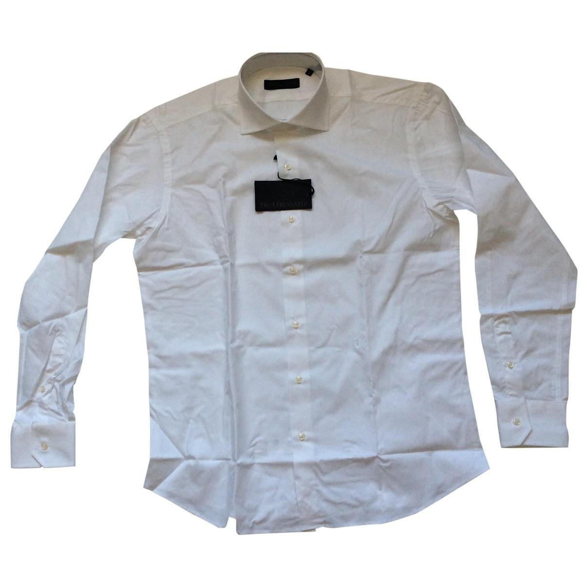 Trussardi - Chemises   pour homme en coton - blanc
