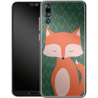 Huawei P20 Pro Silikon Handyhuelle - Fox on Green von caseable Designs
