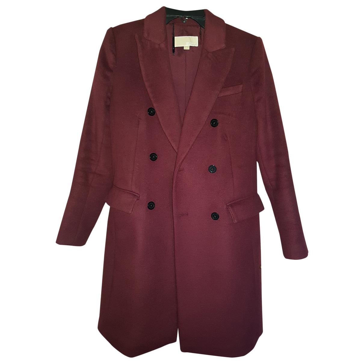 Michael Kors - Manteau   pour femme en laine - bordeaux