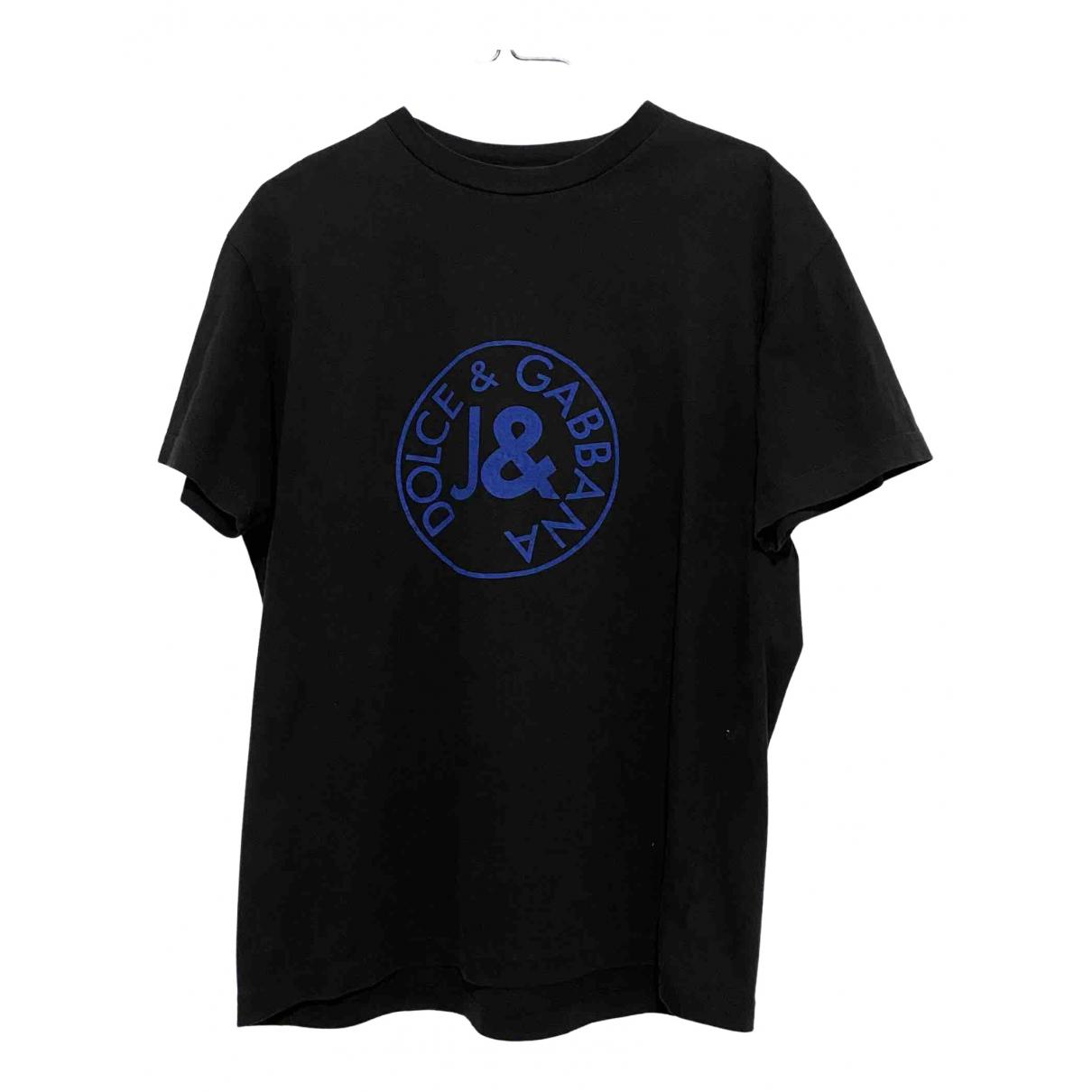 D&g \N Black Cotton T-shirts for Men L International