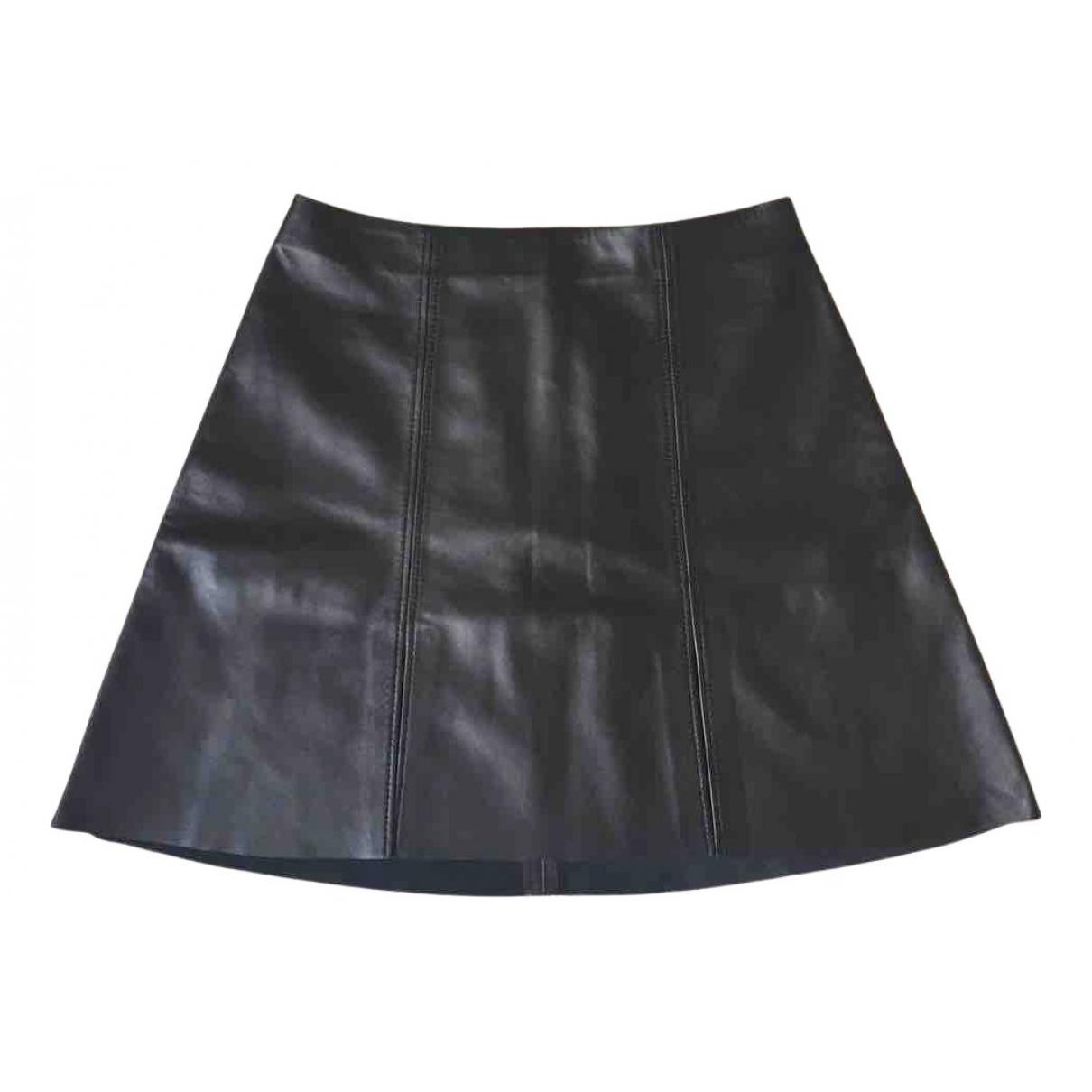 Acne Studios - Jupe   pour femme en cuir - noir